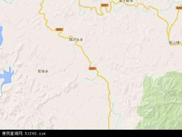 中国河北省秦皇岛市青龙满族自治县隔河头镇地图