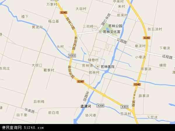 官林镇高清卫星航拍地图