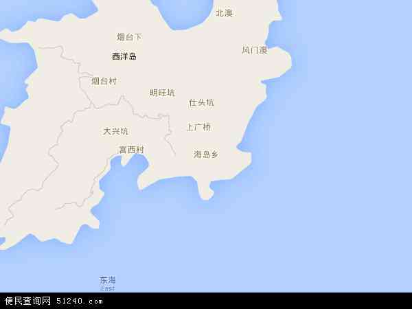 海岛乡地图 - 海岛乡卫星地图