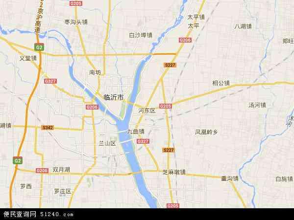 中国山东省临沂市河东区地图(卫星地图)
