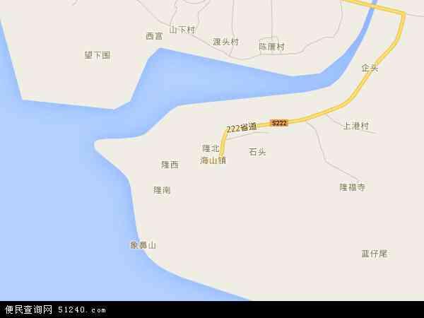 中国广东省潮州市饶平县海山镇地图(卫星地图)