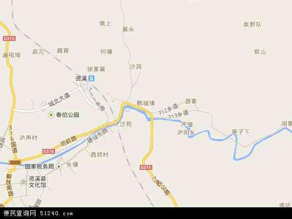 鹤城镇地图 - 鹤城镇卫星地图
