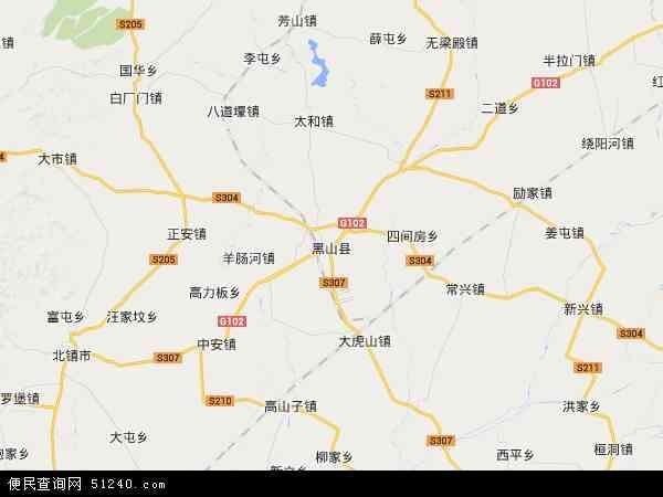 中国辽宁省锦州市黑山县地图(卫星地图)