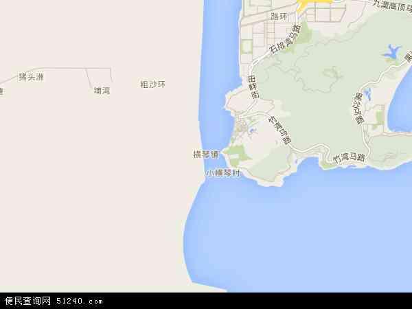 横琴镇电子地图,2015横琴镇地图