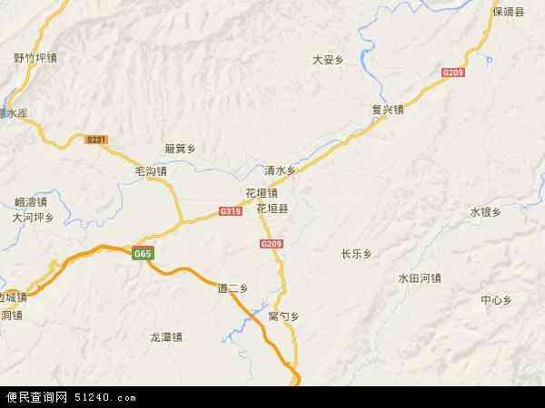 花垣县地图 - 花垣县卫星地图 - 花垣县高清航拍地图