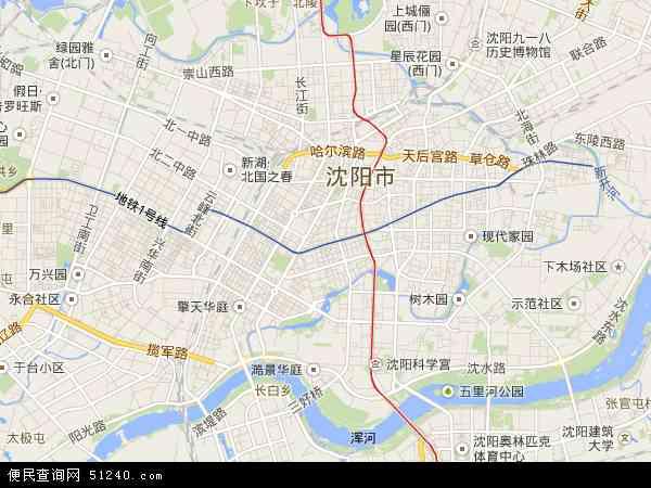 中国辽宁省沈阳市和平区地图(卫星地图)
