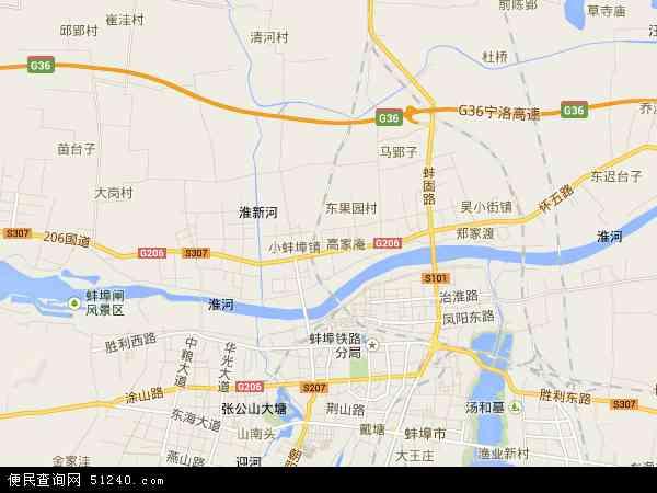 中国安徽省蚌埠市淮上区地图(卫星地图)