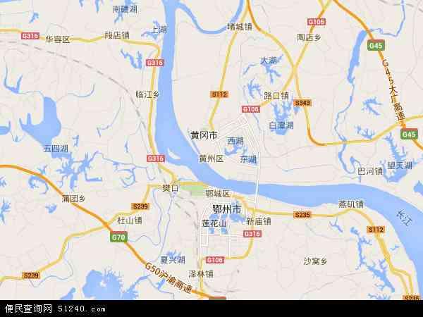 黄州区地图 黄州区卫星地图 黄州区高清航拍地图 黄州区高清卫星地图 图片