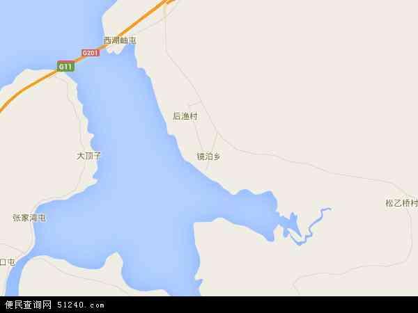 中国黑龙江省牡丹江市宁安市镜泊乡地图(卫星地图)
