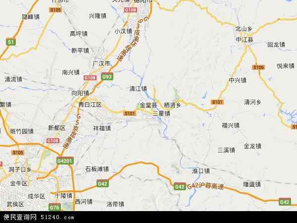 金堂县地图 - 金堂县卫星地图