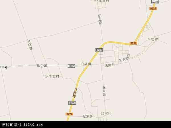 旧县镇电子地图