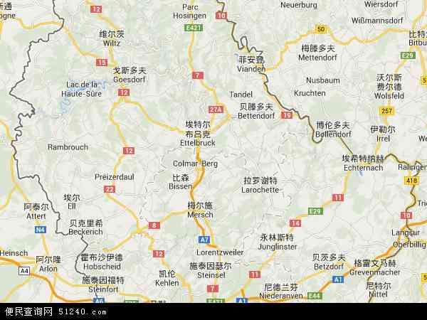 卢森堡地图 - 卢森堡电子地图 - 卢森堡高清地图 - 2016年卢森堡地图