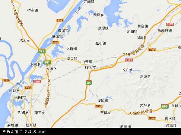 中国湖南省岳阳市临湘市地图(卫星地图)