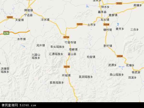 蓝山县地图 - 蓝山县电子地图 - 蓝山县高清地图 - 2019年蓝山县地图