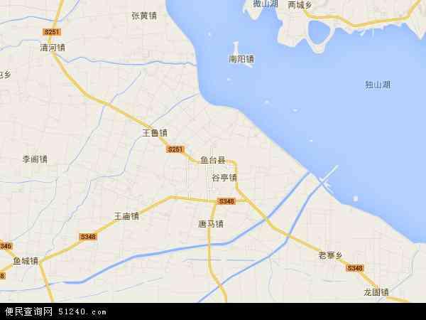 中国山东省济宁市鱼台县老砦镇地图(卫星地图)
