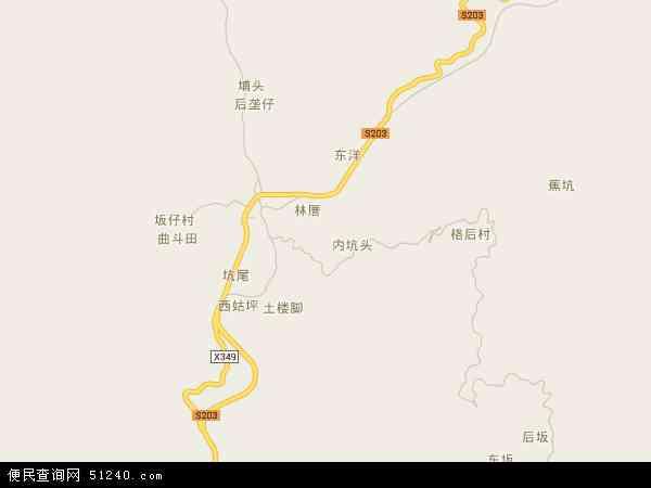 中国福建省泉州市德化县雷峰镇地图(卫星地图)