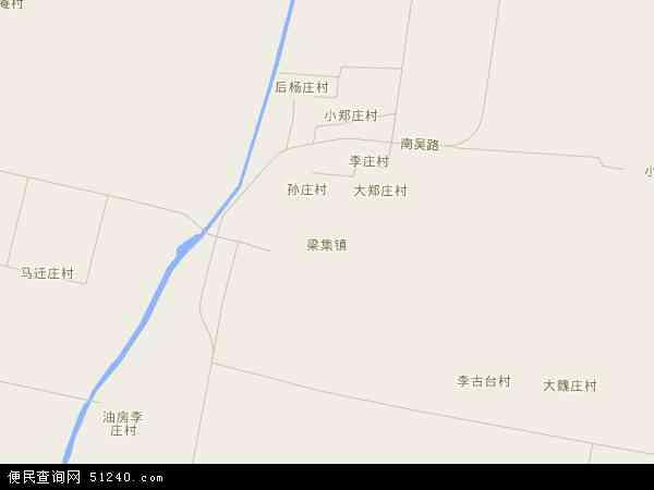 中国河北省沧州市吴桥县梁集镇地图(卫星地图)