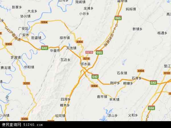 最新邻水县地图,2016邻水县地图高清版