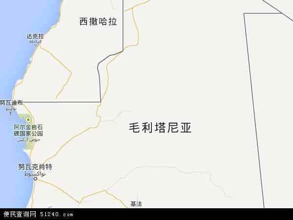 毛里塔尼亚地图 - 毛里塔尼亚电子地图 - 毛里塔尼亚高清地图 - 2016年毛里塔尼亚地图