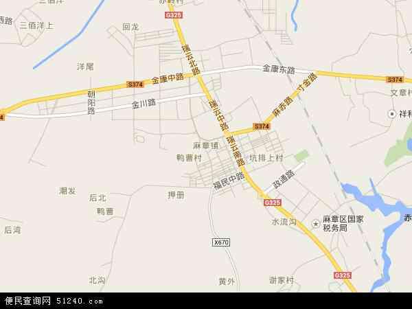 中国广东省湛江市麻章区麻章镇地图(卫星地图)