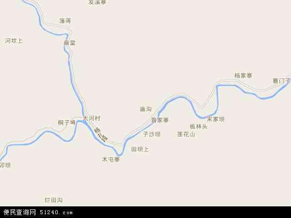 中国云南省昭通市威信县庙沟镇地图(卫星地图)