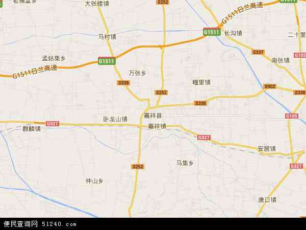 中国山东省济宁市嘉祥县马集镇地图(卫星地图)