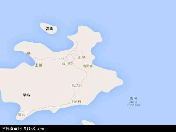 南海乡地图 - 南海乡卫星地图 - 南海乡高清航拍