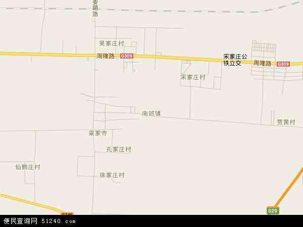 中国山东省淄博市周村区南郊镇地图(卫星地图)