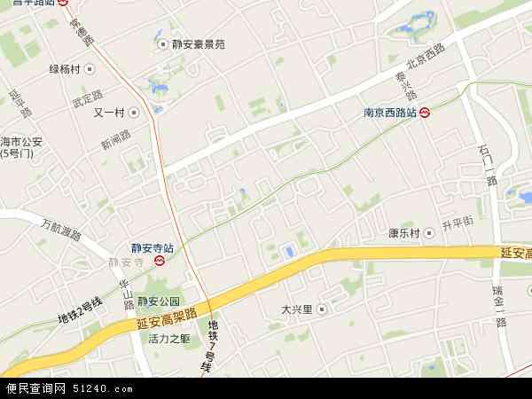 南京西路地图 - 南京西路卫星地图