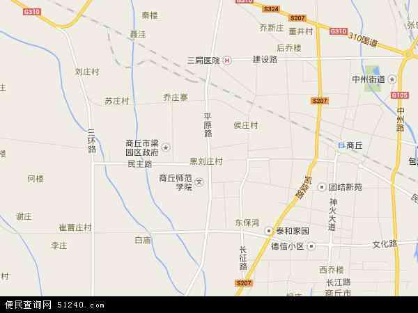 中国河南省商丘市梁园区平原地图(卫星地图)