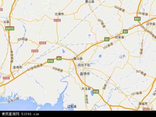 盘山县地图 - 盘山县电子地图 - 盘山县高清地图 - 2017年盘山县地图