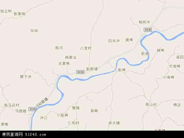 中国河南省信阳市罗山县彭新镇地图(卫星地图)