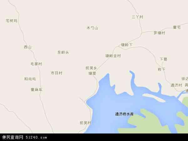 中国浙江省金华市浦江县前吴乡地图(卫星地图)