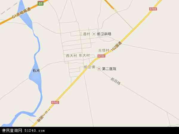 中国辽宁省葫芦岛市绥中县前卫镇地图(卫星地图)