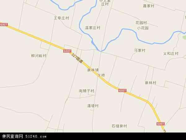 卫星地图 中国山东省济宁市泗水县泉林镇地图