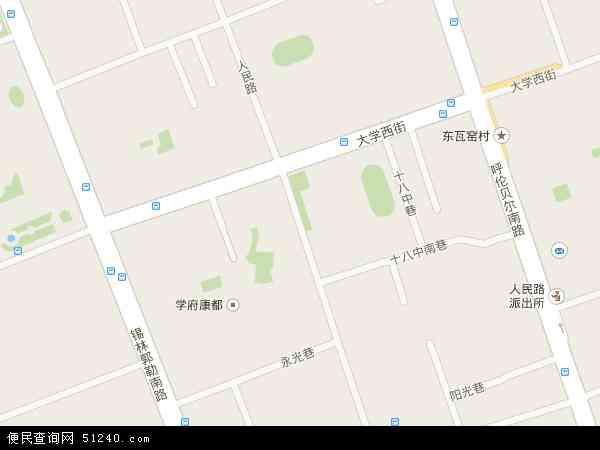 中国内蒙古自治区呼和浩特市赛罕区人民路地图(卫星图片图片