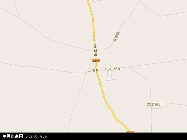 中国山西省大同市左云县三屯乡地图(卫星地图)图片