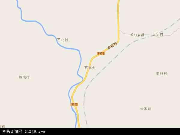 石北乡2017年卫星地图 中国山西省长治市武乡县石北乡地图