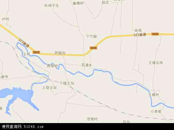 中国河南省郑州市登封市石道乡地图(卫星地图)