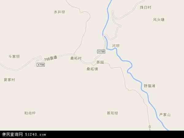 桑柘镇地图 - 桑柘镇电子地图