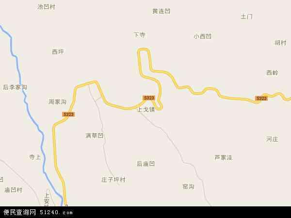 上戈镇地图 - 上戈镇卫星地图