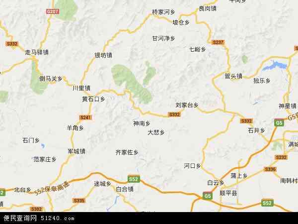 中国河北省保定市顺平县神南镇地图(卫星地图)