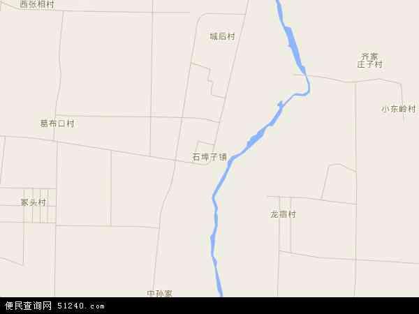 中国山东省潍坊市安丘市石埠子镇地图(卫星地图)