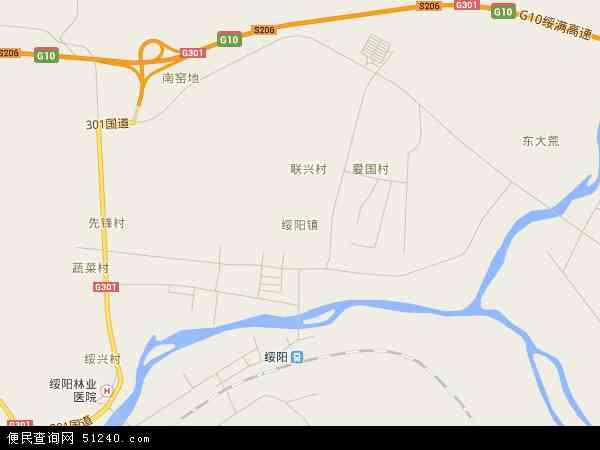 中国黑龙江省牡丹江市东宁县绥阳镇地图(卫星地图)