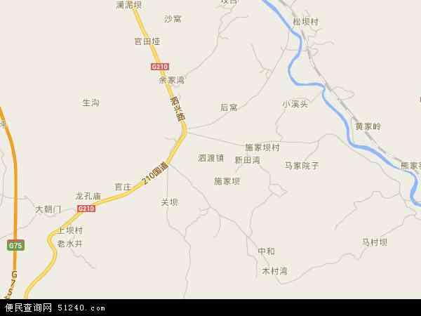 中国贵州省遵义市汇川区泗渡镇地图(卫星地图)
