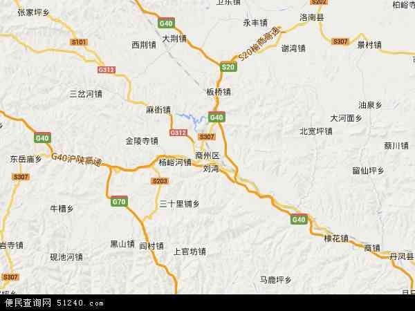 商洛市商州区_商州区地图 - 商州区卫星地图 - 商州区高清航拍地图