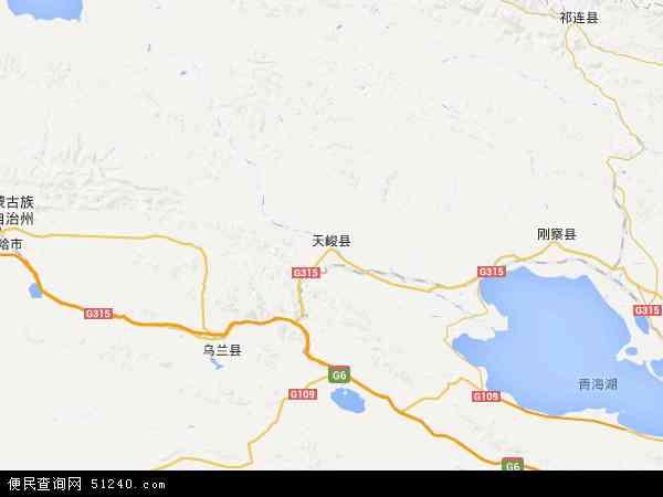 中国青海省海西蒙古族藏族自治州天峻县地图(卫星地图)