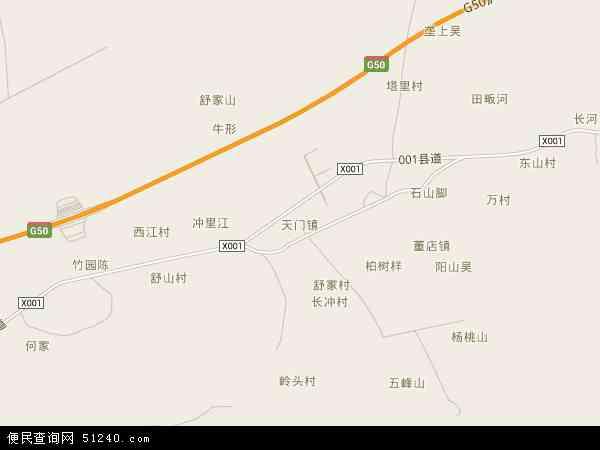 中国安徽省铜陵市铜陵县天门镇地图(卫星地图)