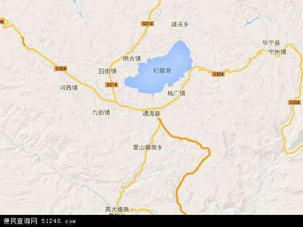 通海县北斗卫星地图2016
