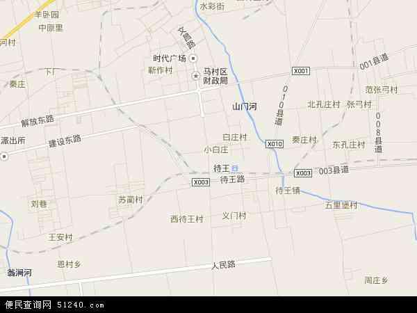 中国河南省焦作市山阳区文昌地图(卫星地图)